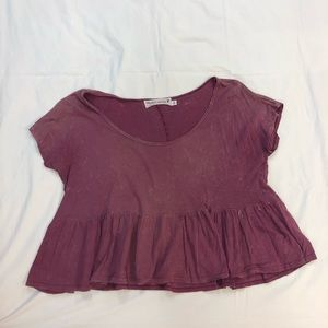 Plum Colored Flowy Top